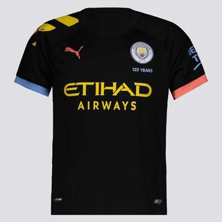 Camisa Puma Manchester City Away 2020 Juvenil