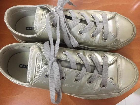 Zapatos Converse Usados Talla 2 Americano Niñas