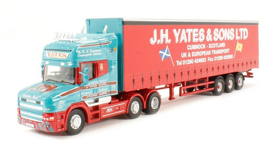 Oxford - Scania T Cab Topline Curtainside J H Yates & S 1/76