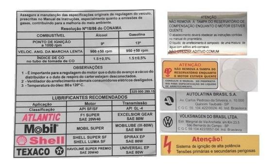 Vw Saveiro Até 1996 Adesivos Internos De Informação Técnica