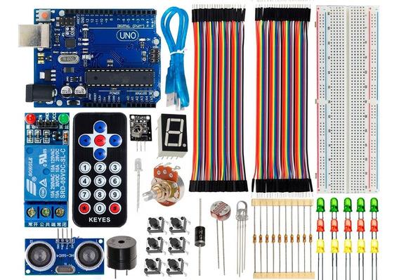 Kit Completo Uno R3 Básico Iniciante Baseado No Arduino Ide