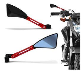Retrovisor Moto Esport Tipo Rizoma Tomok Alumínio Kit 9par