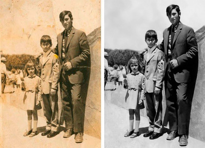 Restauração Profissional De Fotos Antigas E Danificadas