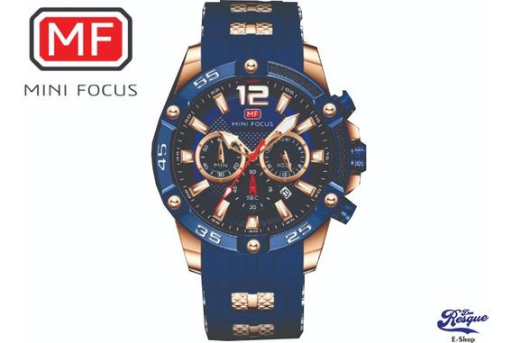 Relógio Mini Focus Mf0349g - Cronógrafo - Rosé Blue