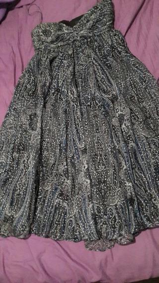 Vestido De Fiesta Zara Woman Talle M Importado De España