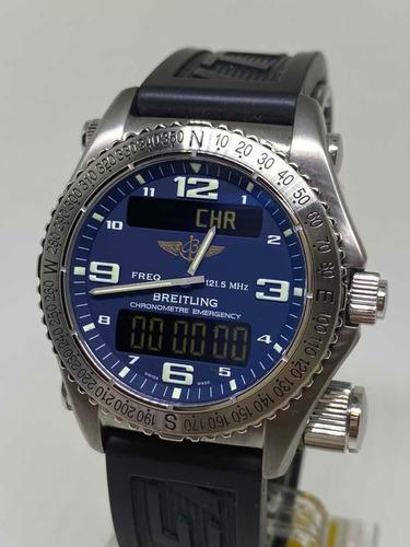 Relógio Breitling Emergency Superquartz E76321 Revisado