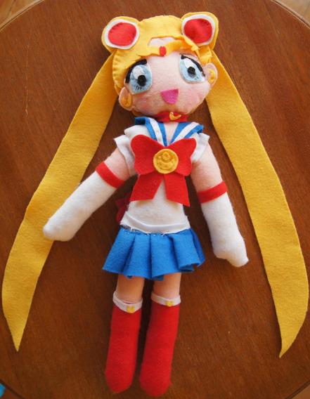 Plush Pelúcia Sailor Moon 40 Cm Artesanato
