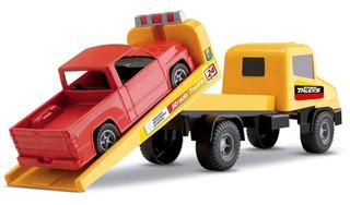 Brinquedo Caminhão Auto Resgate + Pikup Strada Trucks