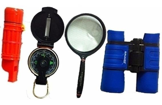Galileo Explorer Kit Com Binocular, Bruxa, Lupa, Apito