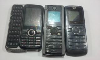Kit De 3 Celulares Motorola P/ Reaproveitamento N63-5