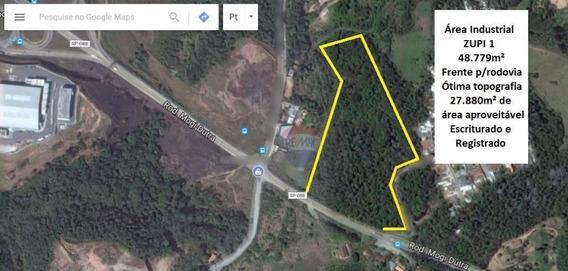 Excelente Área Zupi 1 48.779m² Frente Para Rodovia - Arujá/sp - Ar0006
