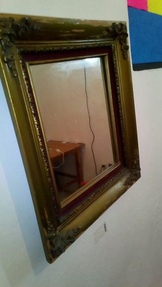 Espejo Antiguo De La Época Colonial, Perteneció A Natera.