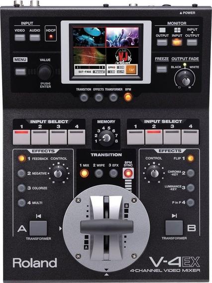 Mixer De Video Roland V-4ex 4 Canais Switcher De Video