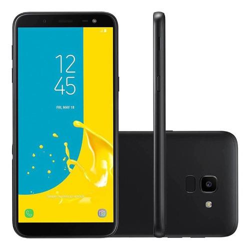 Smartphone Samsung Galaxy J6 64gb Dual Tela 5.6'' 2gb Preto