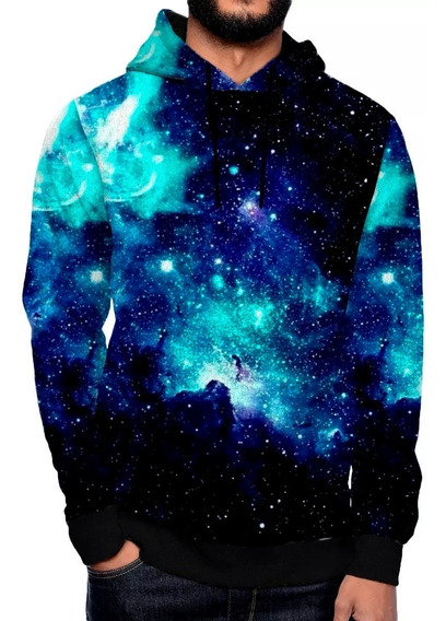 Moletom Galaxy Galaxia Swag Ny Tumblr Azul Swag 3d Luxo Star