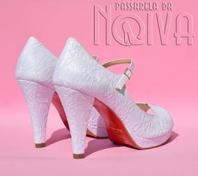 94449cb388 Sapato Salto Feminino Passarela Peep Toe - Sapatos no Mercado Livre ...