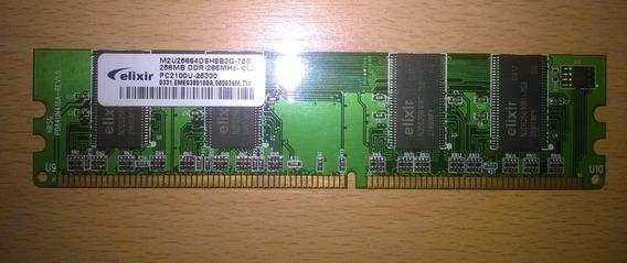 Memoria Ram Para Pc 256mb Ddr 266 Pc 2100 Elixir