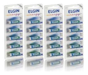 Bateria Alcalina 12v A27 4 Cartelas 20 Unidades Elgin