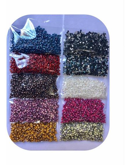 Kit 10.000 Pedras Pequenas Para Joias Unhas Ideal P/ Miolos