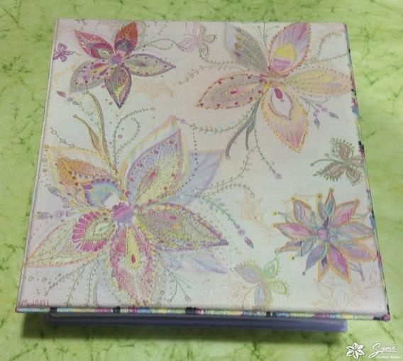 Caja Decoupage 15x15 Flores