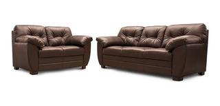 Sala De Piel Derby - Sofa, Love Y Sillon - Conforto Muebles