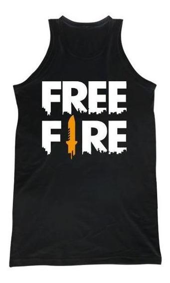 Free Fire Logo Grande Musculosa H