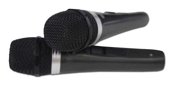 Microfone Dinâmico Profissional Duplo C Fio Mt1003 Kl 1163