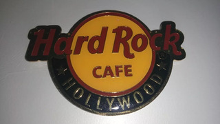 Chapa En Metal Con Imán Hard Rock Cafe Hollywood Leer Antes