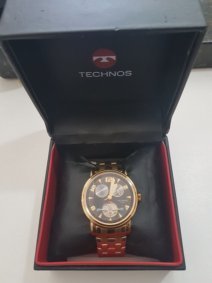Relógio Technos Automatico Dourado Excelente