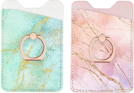 Phone Card Holder Sleeves With Ring Ucolor Pu Leather Wallet