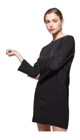 Vestido Semi Formal Básico Negro Corto S - M - Envio Gratis