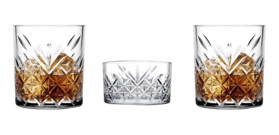 Set Whisky Pasabahce 2 Vasos Bajos + Dip Copetinero Palermo