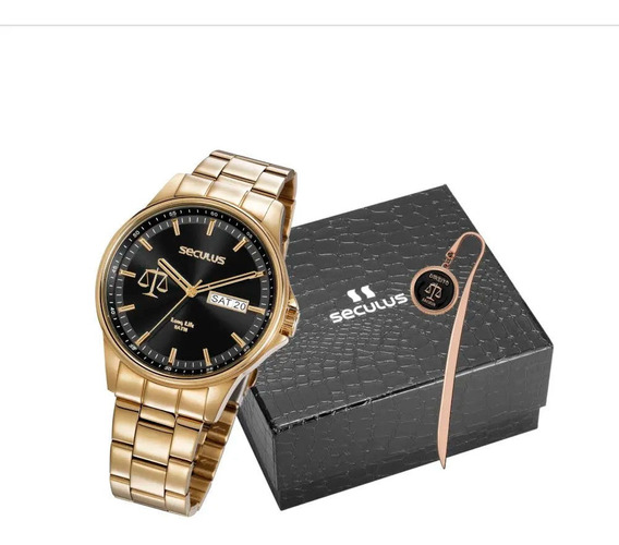 Relógio Seculus Masculino 35013gpskda1k1