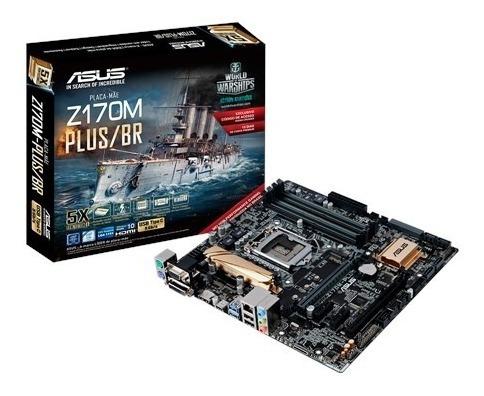 Placa Mãe Asus Z170m-plus/br Com Um Processador I5 7600k