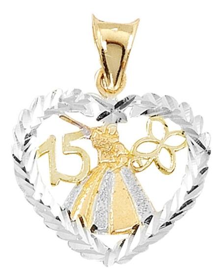 Dije 15 Años Vestido Oro 10k - 542