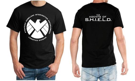 Playera Agentes De Shield Manga Corta Cuello Redondo