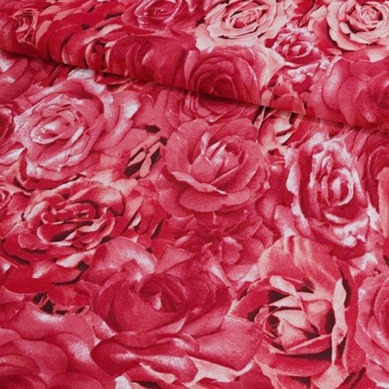 Tecido Estampado Floral Jacquard Lançamento 1 Metro X 2,80m