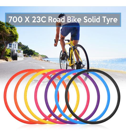 Neumático 700x23c Sólido Para Bicicleta