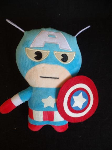 Pelúcia - Capitão América - Marvel - 23cm - Com Ventosa