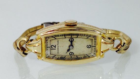 Reloj Hamilton Gold Filled 10k P/dama (inv 518-d)