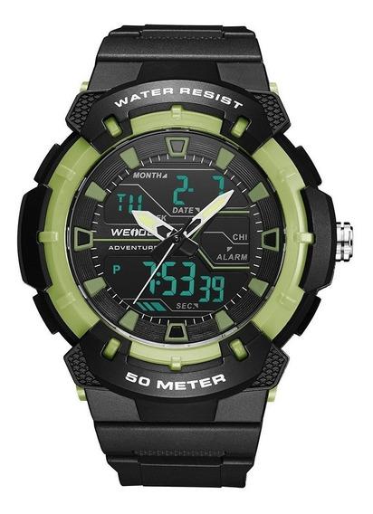 Relógio Masculino Weide A Prova D Água Original + Nf 154
