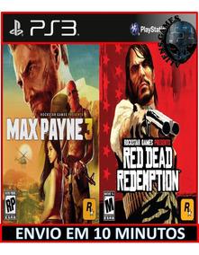 Max Payne 3 E Read Dead Ps3 Psn Envio Rápido Digital