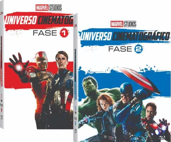 Dvds Marvel Universo Cinematográfico - Fase 1 + 2