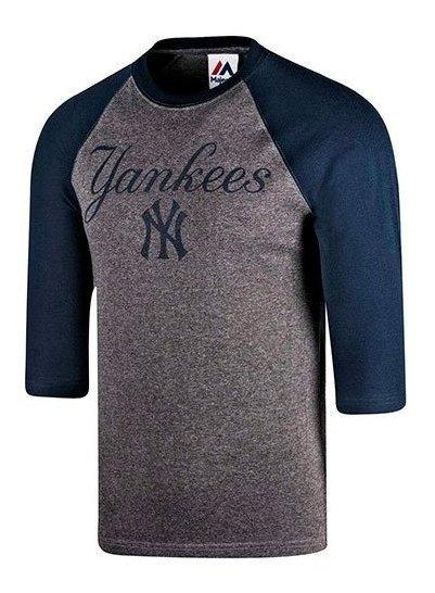 Playera Ny Yankees Majestic Baseball Tee Mffr183bnk Impo19