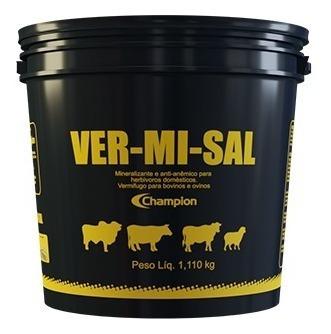 Imagem 1 de 5 de Ver-mi-sal 1,110 Kg - Champion Saúde Animal