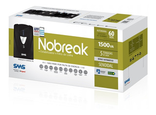 Nobreak Sms Senoidal Puro 1500va Bivolt Engate Bateria Externa Servidor Redundante Precisão 27572 Empresa Corporativo