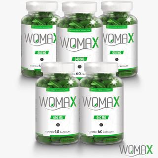 6 Potes Womax 640mg Original 60caps + Super Brinde Top