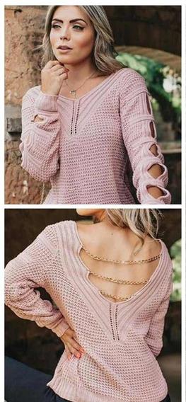 Blusa Feminina Linda Corrente Costas Nua Moda Instagram Prm
