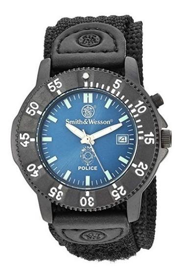 Reloj Hombre Smith & Wesson De Acero Inoxidable Y Nylon