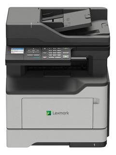Impresora multifunción Lexmark MB2338ADW con wifi gris y blanca